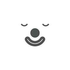 clown icon. sign design