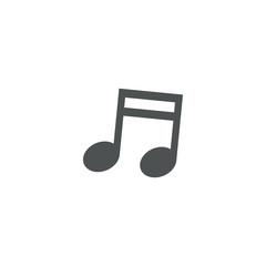 music note icon. sign design