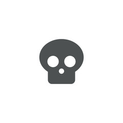 head skeleton icon. sign design