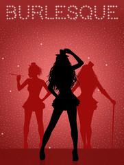 illustration of Burlesque show