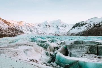 Printed kitchen splashbacks Glaciers vatnajokull glacier frozen on winter season, iceland