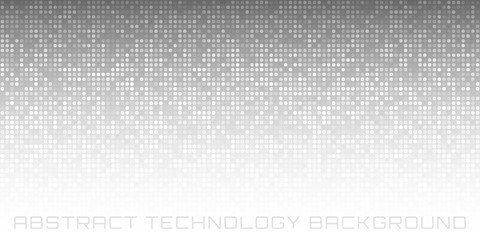 Abstract Gray Technology Horizontal Background. Vector illustration