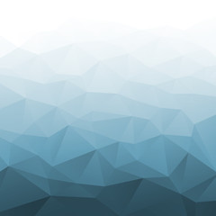 Abstract Gradient Blue Geometric Background. Vector illustration