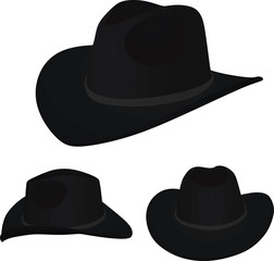 Black cowboy hat. vector illustration