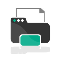 Design printer icon, web and office illustration vector