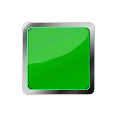 Design square blank button, green illustration vector