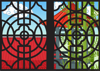 Window design in chinese style