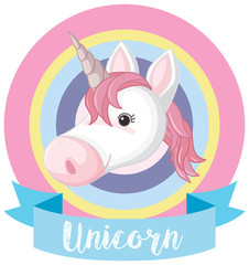 Banner template with unicorn head