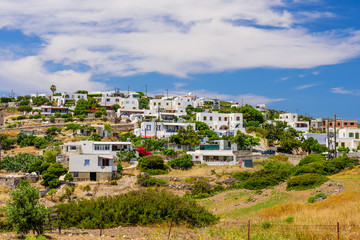 Kambos village is a traditional village on the island of Patmos, Dodecanese Islands, Greece