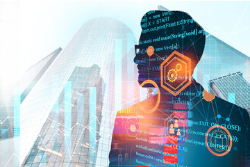 Computing, future and analytics concept