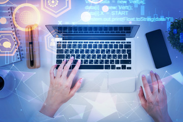 Programming, computing and development concept