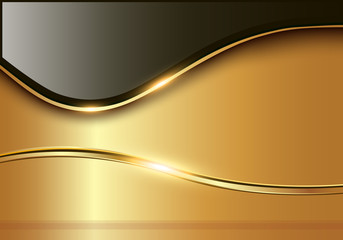 Abstract business background, elegant gold