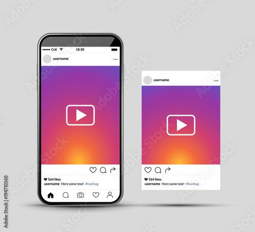 Social network photo frame mobile template  Social media app