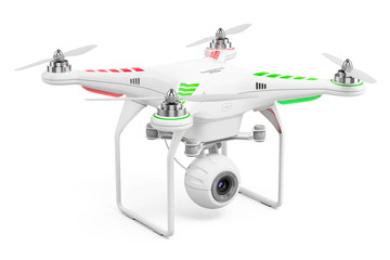 Drone quadcopter with 4k video camera
