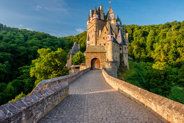 Printed roller blinds Castle Burg Eltz castle in Rhineland-Palatinate, Germany.