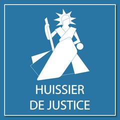 Logo huissier de justice.