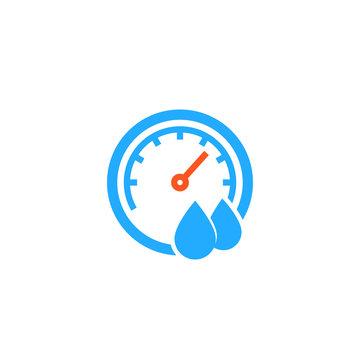 Hygrometer icon on white