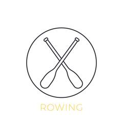 oars vector linear icon