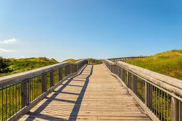 Boardwalk to Brackley Beach Provincial Park Beach