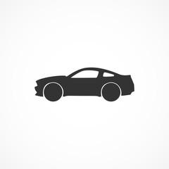 Vector image of a car icon.