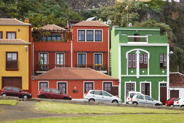Colorful Houses In Santa Cruz, La Palma