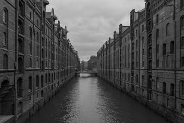 The cityscape in Speicherstadt of Hamburg,Germany