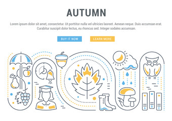Website Banner and Landing Page of Autumn.
