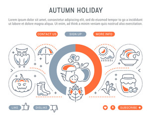 Website Banner and Landing Page of Autumn Holiday.