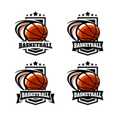 Basketball Army Badge Logo