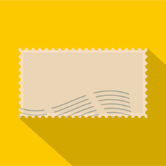 Post stamp icon. Flat illustration of post stamp vector icon for web