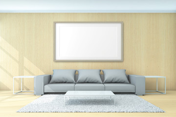 Living Area For Background Concept 3d Rendering