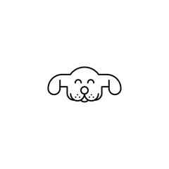 Dog logo. Animal line art logo