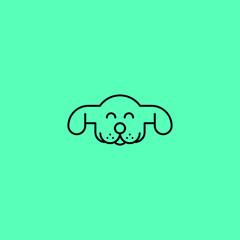 Dog logo. Animal line art logo