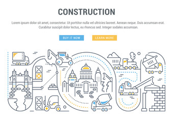 Website Banner and Landing Page of Construction.
