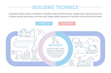 Website Banner and Landing Page of Building Technics.