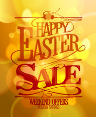 Easter sale calligraphic poster design