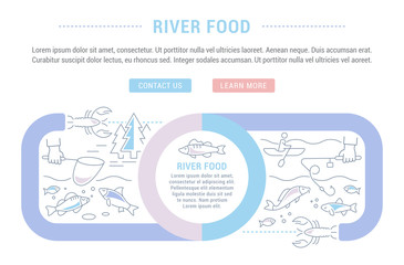 Website Banner and Landing Page of River Food.