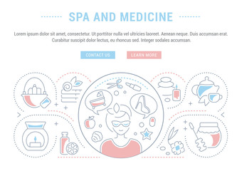 Website Banner and Landing Page of SPA and Medicine.