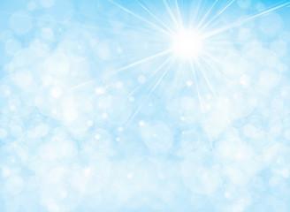 Vector blue, sun shine sky background, sunny sky  background.