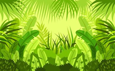 tropical forest.  child. design. vector background. illustration