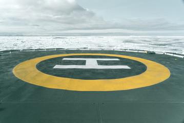Heliport of Expedition Vessel - Antarctica