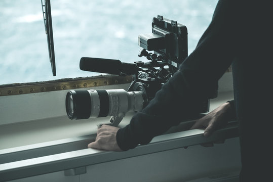 Filmmaker with his Camera
