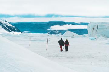 Explorers walking the Ice - Antarctica