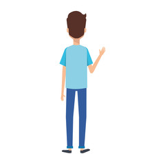 young man model avatar character vector illustration design