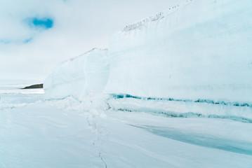 Side View of a Glacier Clough - Antarctica