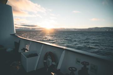 Sunset over Ships Rail - Antarctica
