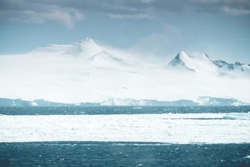 Panorama of huge Mountains - Antarctica