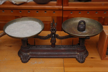 vintage Russian balance with weights