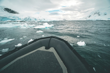 Cruising with the Rubber Dinghy - Antarctica