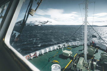 View from the Command Bridge - Antarctica
